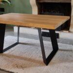 Pied de table acier