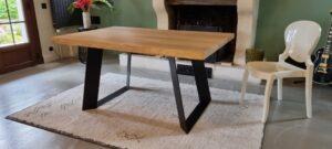 pied table en metal sur mesure